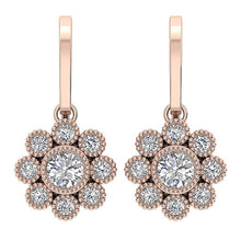 Load image into Gallery viewer, 14k Rose Gold Earrings-DE108