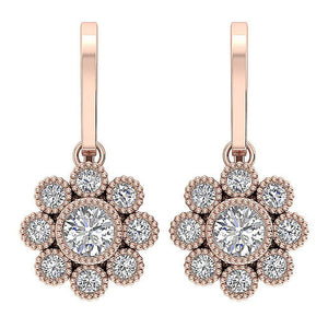 14k Rose Gold Earrings-DE108