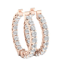 Load image into Gallery viewer, Prong Setting Rose Gold Earring-DE146