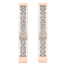 Load image into Gallery viewer, Channel Setting 14K Rose Gold Earring-E-254