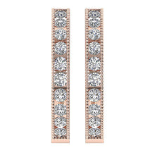 Load image into Gallery viewer, Large Hoops Earrings 14k White Yellow Rose Gold SI1 G 1.75Ct Natural Diamonds Channel Set