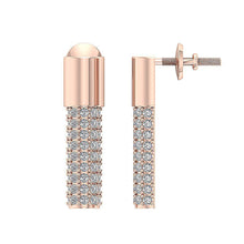 Load image into Gallery viewer, Fashion Earrings 14K Rose Gold Prong Set-DE201