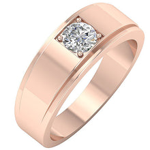 Load image into Gallery viewer, Prong Setting Rose Gold Ring-DMR3