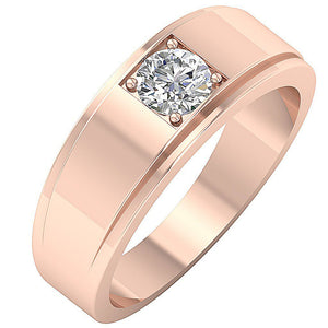 Prong Setting Rose Gold Ring-DMR3