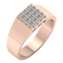 Load image into Gallery viewer, Mens Wedding Ring 14k Solid Gold SI1/I1 G 0.60Ct Natural Diamond Prong Set Width 9.00MM