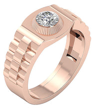 Load image into Gallery viewer, Solitaire Ring Rose Gold Ring-MR-55