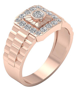 Rose Gold Mens Ring-MR-5