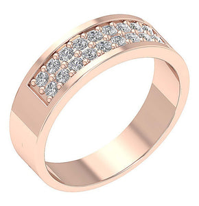 SI1/I1 G 0.75Ct 14k Solid Gold Natural Diamond Mens Engagement Ring Prong Set Width 7.20MM