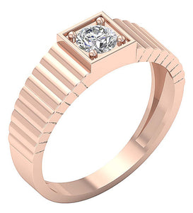 14k Solid Gold Mens Solitaire Engagement Ring SI1/I1 G 0.55Ct Round Diamond Prong Set Width 7.10MM