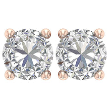 Load image into Gallery viewer, Solitaire Studs Earring Rose Gold-DST45-2.50-3