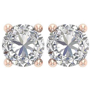 Solitaire Studs Earring Rose Gold-DST45-2.50-3