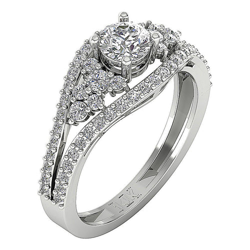 Designer Split Shank Engagement Solitaire Ring I1 G 1.25 Ct Natural Diamond