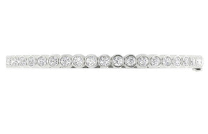 Diamond Bangles SI1/I1 G 1.85Ct Natural Diamonds 14k White Yellow Rose Gold Bezel Set