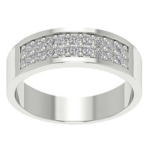Load image into Gallery viewer, SI1/I1 G 0.75Ct 14k Solid Gold Natural Diamond Mens Engagement Ring Prong Set Width 7.20MM