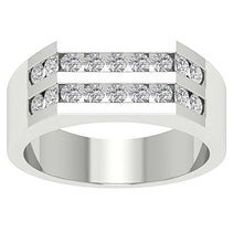Load image into Gallery viewer, 14k Solid Gold Natural Diamonds SI1/I1 G 1.00Ct Mens Wedding Ring Channel Set Width 7.85MM