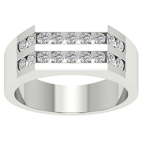 Channel Setting White Gold Ring-MR-98