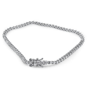 VS1/SI1/I1 14k Solid Gold G 2.50Ct Tennis Bracelet Natural Diamonds Prong Set 7.00Inch