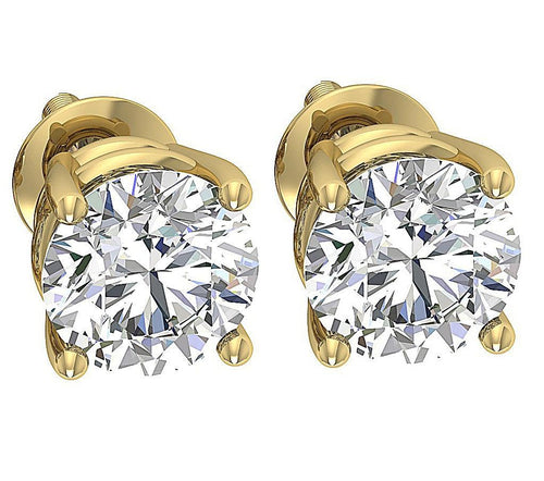 Stud Earring 14K Solid Gold-DST100-(2.10)-7