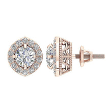 Load image into Gallery viewer, Prong Set Stud Earring 14k-18K Gold-E-782