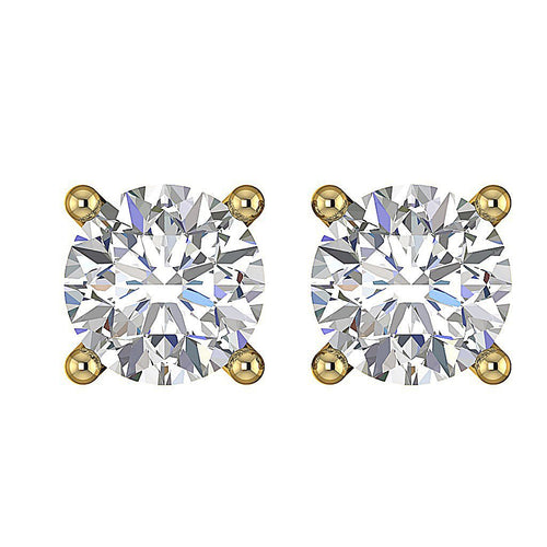 Yellow Gold Genuine Diamond Earring-DST20-0.55