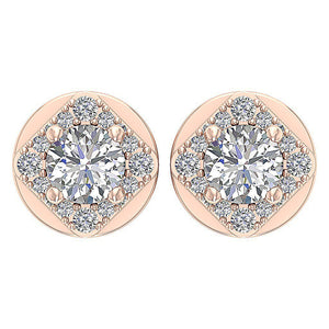 Solitaire 14k-18k Rose Gold Earring-DE170