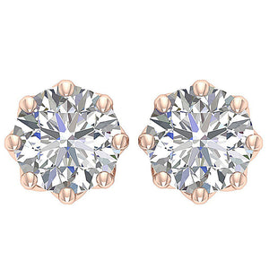 Round Diamonds Earrings-DST102