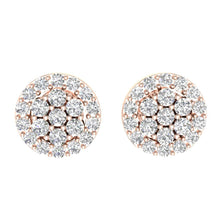 Load image into Gallery viewer, Designer Rose Gold Earring-E-433
