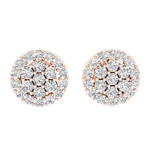 Designer Rose Gold Earring-E-433