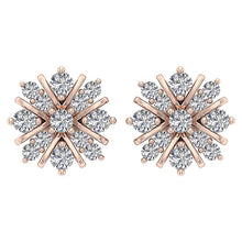 Load image into Gallery viewer, Designer Studs Earrings 14k/18k Solid Gold Natural Diamonds I1/SI1 G 0.65 Ct