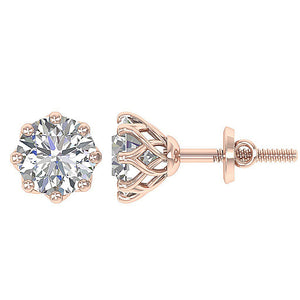 Stud Earrings Prong Setting-DST102