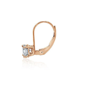 Natural Diamond Earring 14k-18k Rose Gold-DST88