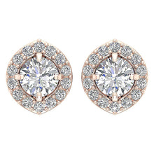 Load image into Gallery viewer, Top View Rose Gold Genuine Diamond Earring-E-782-4