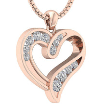 Load image into Gallery viewer, Heart Pendants I1 G 0.60 Ct 14k/18k White Yellow Rose Gold Channel Set Natural Diamonds