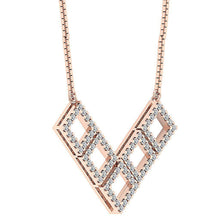 Load image into Gallery viewer, 14k-18k Rose Gold Natural Diamond Pendants-DP375