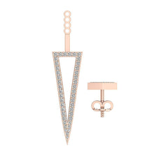 Load image into Gallery viewer, Round Cut Diamond Rose Gold Studs Earring-E-780-11