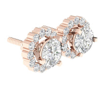 Load image into Gallery viewer, Natural Diamond Earring 14k-18k Rose Gold-E-708-5