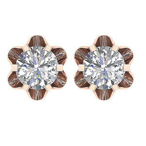 Designer Round Diamonds Earrings-DE191