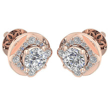 Load image into Gallery viewer, Vintage Designer 14k-18k Rose Gold Earring-DE170