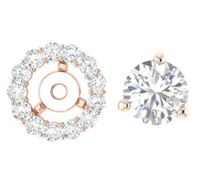 Load image into Gallery viewer, Designer Rose Gold Halo Stud Earring-E-708-8