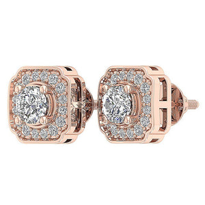Rose Gold Vintage Studs Earring-DE212