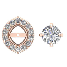 Load image into Gallery viewer, Designer Solitaire Studs Earring 14k-18k Rose Gold-E-782-8