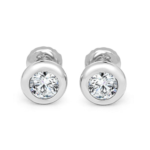 Natural Diamond 14k-18k White Gold Earring-DST101-0.50CT