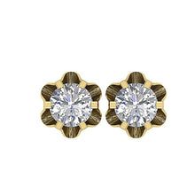 Load image into Gallery viewer, Designer Solitaire Studs Earring 14k/18k Solid Gold Natural Diamonds I1 G 0.30Ct