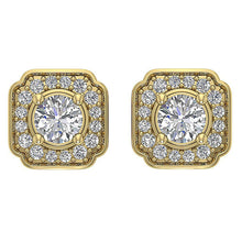 Load image into Gallery viewer, Designer Halo Solitaire Studs Earring-DE212