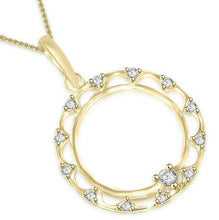 Load image into Gallery viewer, Circle Of Love Pendants 14k/18k Solid Gold SI1 G 0.25 Ct Natural Diamonds Pave Set