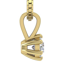 Load image into Gallery viewer, Prong Set Pendants 14k-18k Yellow Gold-DP90-0.25-4