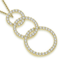 Load image into Gallery viewer, Circle Of Love Pendants 14k/18k White Yellow Rose Gold I1 G 1.15Ct Natural Diamond Pave Set