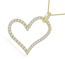 Load image into Gallery viewer, Heart Pendants I1 G 0.70 Ct Round Cut Diamond 14k/18k White Yellow Rose Gold