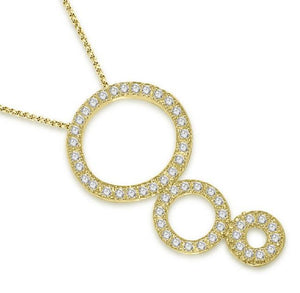 Circle Of Love Pendants Natural Diamond 14k/18k Solid Gold SI1 G 0.85Ct