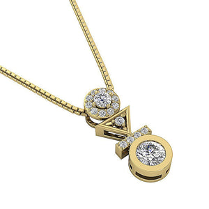Designer Fashion Pendants 14k-18k Yellow Gold -DP403
